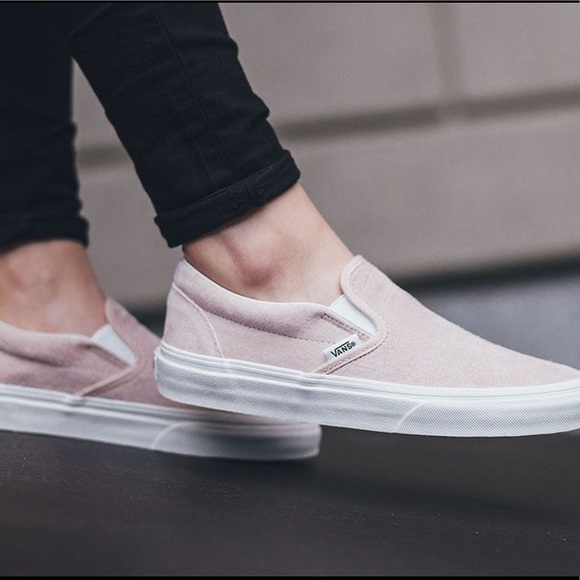 f45536f703 PINK leather Slip On Vans. M 5ba16974194dadd222308b1e